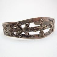 Antique Crossed Arrows patched Cuff  c.1930