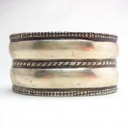 Jonathan Day 【Double D】 Coin Silver Wide Cuff Bracelet
