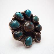 Vintage Cluster Ring with Smokey Bisbee  c.1960