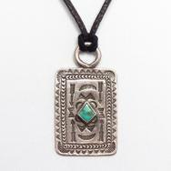 【Morris Robinson】 Hopi Antique Tag Pendant Necklace  c.1940