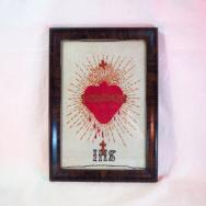"Antique Hand Embroidery  ""Sacro Cuore"""