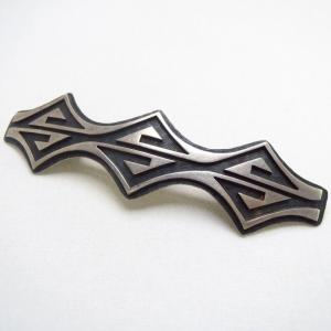 Bille Ray Hawee Hopi Vintage Double Wave Overlay Pin c.1960~