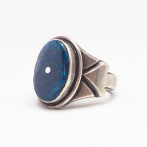 【Fred Thompson】 Vtg Top Grade Kingman Turquoise Ring c.1965~