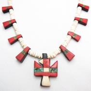 Antique Santo Domingo Small Thunderbird Necklace  c.1930~