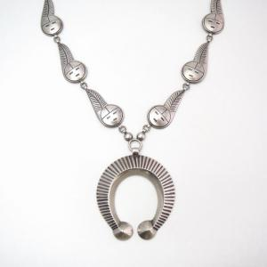 【Luke Billy Yazzie】 SunFace Chain & Naja Necklace  c.1965~