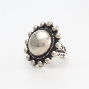 Antique Concho Face Silver Small Tourist Ring  c.1935~