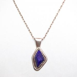 Joe H. Quintana Cochiti Vintage Sugilite Pendant Necklace