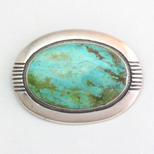 【Frank Patania Sr.】 Vintage Large Turquoise ConchoPin c.1950