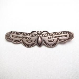 Morris Robinson Hopi [ON BOOK] Butterfly Shaped Pin  c.1930