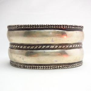 Jonathan Day 【Double D】 Coin Silver Wide Cuff Bracelet S-M