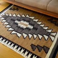 Vintage Navajo Rug 【Two Grey Hills】Saddle  95/121