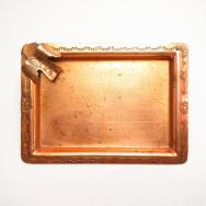 Vintage Thunderbird Applique Stamped Copper Ashtray  c.1940~
