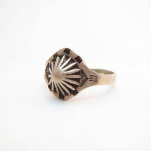Antique Concho Repoused Silver Tourist Ring  c.1930~