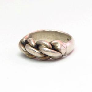 Vintage Braided Silver Wire Heavy Men's Ring  c.1950~