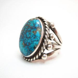 Vintage Split Shank Ring w/High Grade Ithaca Peak TQ  c.1960
