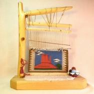 Navajo Rug Indian Weaver's Miniature Loom Model