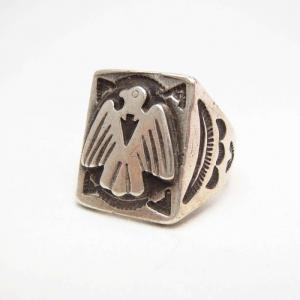 Vintage 【Maisel's】 Thunderbird Patched Seal Ring c.1940~