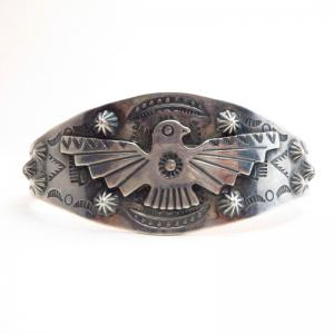 Vintage 【BELL】 Thunderbird Patched Cuff Bracelet  c.1940~