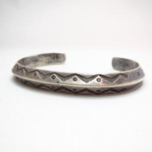 Antique Ingot Silver Triangle Wire Cuff Bracelet  c.1920