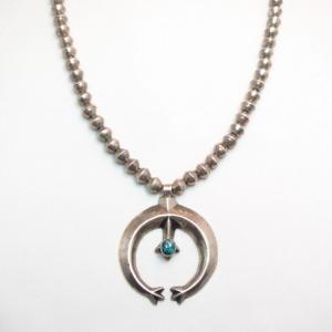 【Francis Jones】 Cast Naja w/Bench Made Silver Bead Necklace