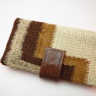 Leather Wallet with 1920's Navajo Rug