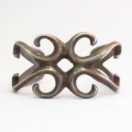 Antique Navajo Casted Silver Small Cuff Bracelet  c.1930~