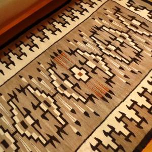 Antique Navajo Two Grey Hills Rug  c.1930  167/103