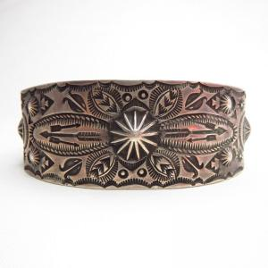 Antique 【GARDEN OF THE GODS】 Silver Cuff Bracelet  c.1940