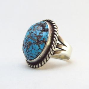 Mark Chee Vintage Ring w/High Grade Persian Turquoise c.1960