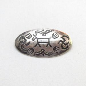 Antique Horse & 卍 Stamped Silver Small Pin Brooch  c.1930