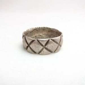 Vintage Navajo Pounding Old American Coin Ring  c.1940~