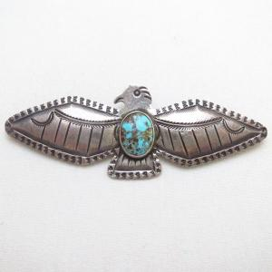 Antique 【Ganscraft】 Thunderbird Slug Silver Pin w/TQ c.1930