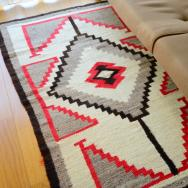 Antique Navajo Sadle Blanket Rug  c.1940~ 90/158