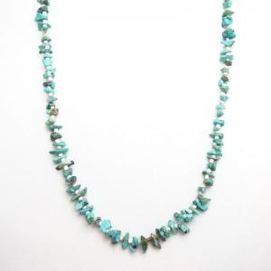 Vintage Single Strand Nugget Turquois Heishi Necklace c.1970