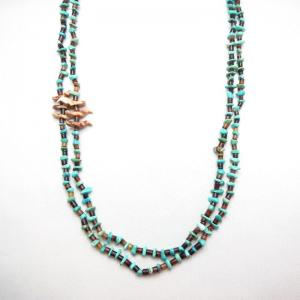 Vintage Zuni Beads 2 strand Necklace w/Fetishe