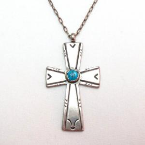 【Carl Luthy Shop】 Santo Domingo Vintage Cross Fob Necklace