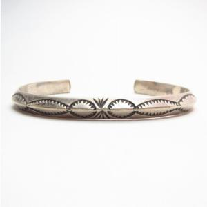 OLDPAWN Stamped Trianglewire Cuff Bracelet c.1970~