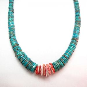 Vintage Santo Domingo TQ DiscBeads Heishi Necklace