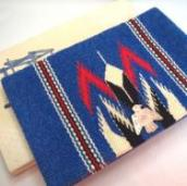 Antique Chimayo Purse w/Thunderbird Concho  c.1940