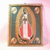 Antique Collage Virgin of Guadalupe・Mexico Retablo