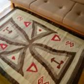 Antique Navajo Crystal Rug 【Cross】  c.1920 113/161