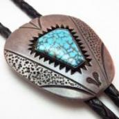 Vintage Bolo with High Grade Nevada Blue  c.1960