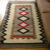 Antique 【Crystal】 Navajo Rug Diamond Pattern c.1940~  90/149
