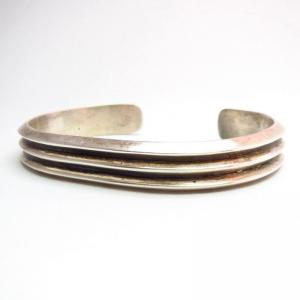 Harry Morgan OLDPAWN Ingot Silver Cuff Bracelet c.1970~