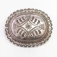 【Austin Wilson】 Stamped Silver Concho Pin/Buckle  c.1935~