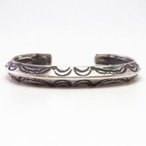 Antique Navajo Heavy Ingot Silver Triangle Wire Cuff c.1910~