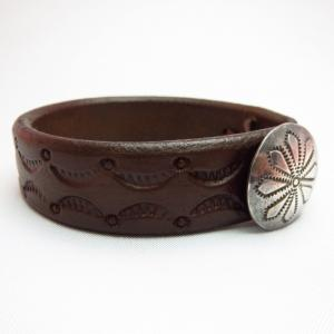 Novel Zombies Old Concho Leather Bracelets DBRN ML
