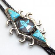 John Gordon Leekity Zuni Vintage Knifewing Inlay Bolo c.1950